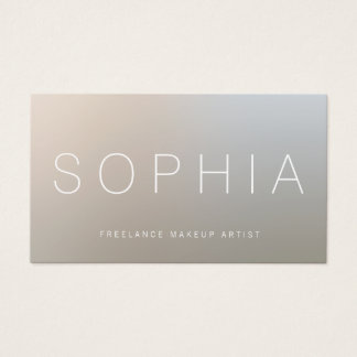 Modern Makeup Artist Luminous Silver Business Card