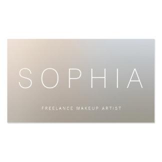 Modern Makeup Artist Luminous Silver Pack Of Standard Business Cards