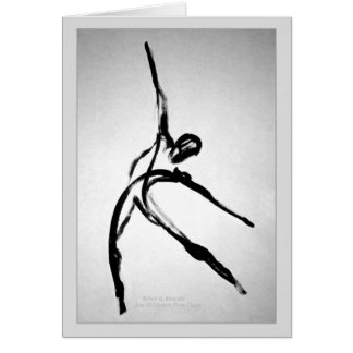 Modern Male Dancer Greeting Card