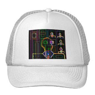 Modern man in neon trucker hat