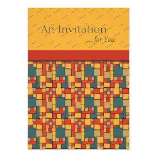 Modern Mania Colorblock Graphic Custom 13 Cm X 18 Cm Invitation Card
