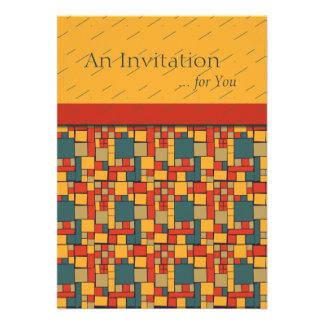 Modern Mania Colorblock Graphic Personalized Invitations