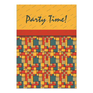 """Modern Mania Party Time 5"""" X 7"""" Invitation Card"""