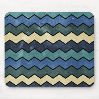 Modern Manly Blue Chevrons Mouse Pads