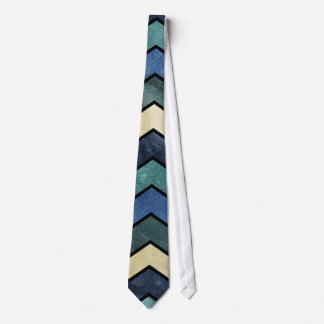 Modern Manly Blue Chevrons Tie