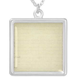 Modern Map Silver Plated Necklace