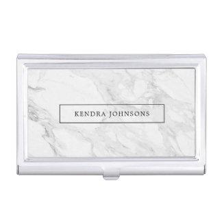 Modern marble business card holder