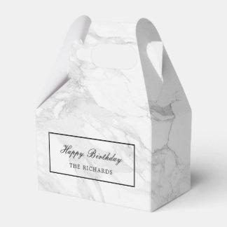Modern marble favour box