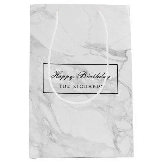 Modern marble medium gift bag