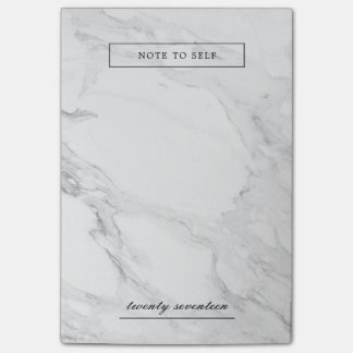 Modern marble post-it notes