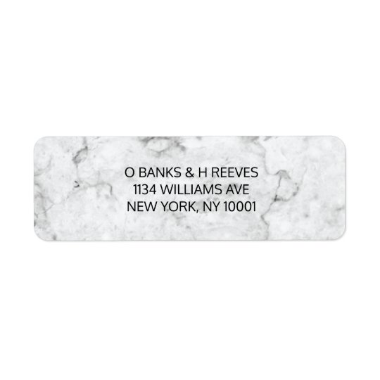 Modern marble return address labels
