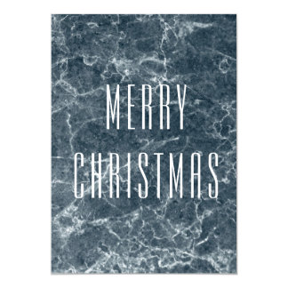 modern marble stone trendy christmas card