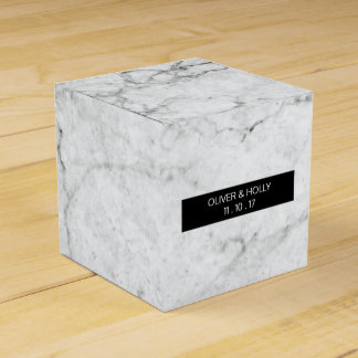 Modern marble wedding favor box