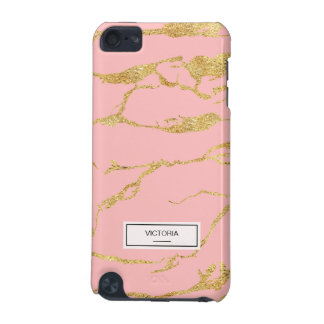 Modern marble with faux gold iPod touch (5th generation) cases