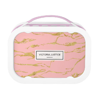 Modern marble with faux gold lunch box