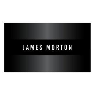 Modern masculine black gray stylish professional business card template