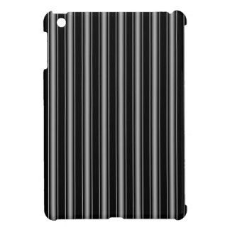 Modern Masculine Black, White and Grey Stripes Case For The iPad Mini