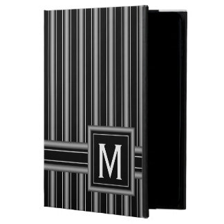 Modern Masculine Black, White and Grey Stripes Powis iPad Air 2 Case