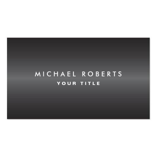 Modern masculine dark gray professional profile business card templates