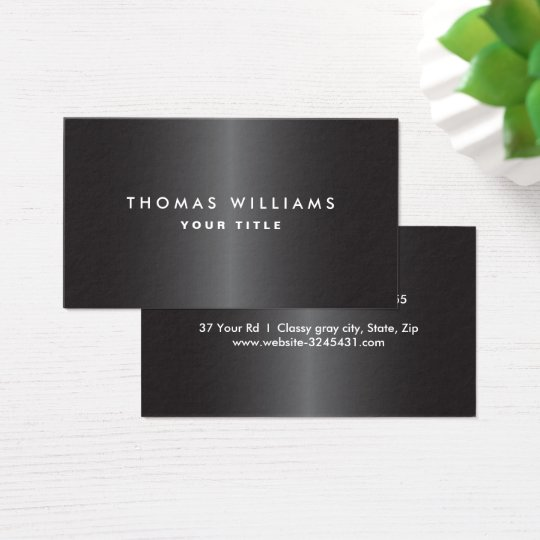 Modern masculine dark grey professional profile business card