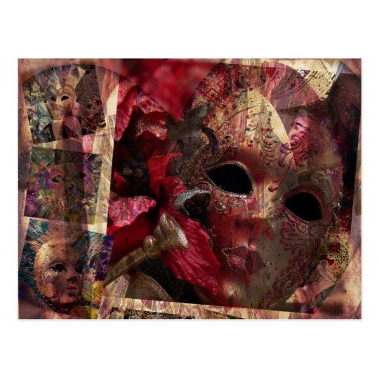 Modern Masks Postcard