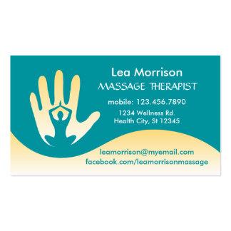 Modern Massage Therapist Business Card