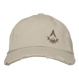 Modern Master Mason distressed hat Embroidered Cap