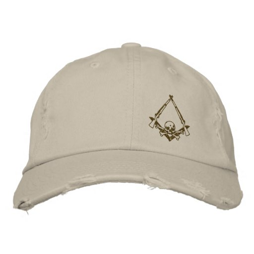 Modern Master Mason embroidered distressed hat