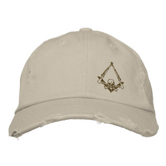 Modern Master Mason embroidered distressed hat Embroidered Hat