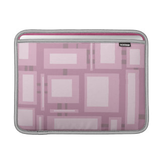 Modern Mauve Abstract Design 13 Inch Sleeve For MacBook Air
