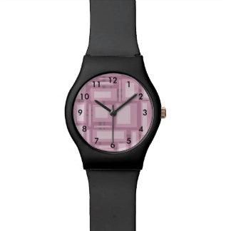 Modern Mauve Abstract Design Watch