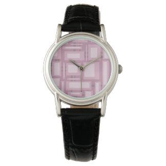 Modern Mauve Abstract Purple Watch