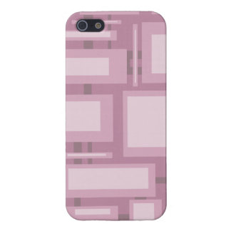 Modern Mauve Abstract Shapes Cover For iPhone 5/5S