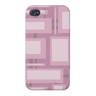 Modern Mauve Abstract Shapes iPhone 4 Case
