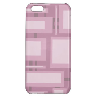 Modern Mauve Abstract Shapes iPhone 5C Case