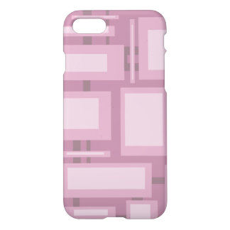 Modern Mauve Abstract Shapes iPhone 8/7 Case