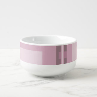 Modern Mauve Abstract Soup Mug