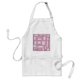 Modern Mauve Abstract Standard Apron