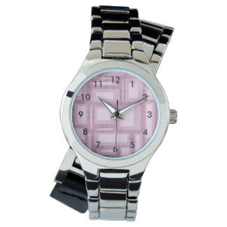 Modern Mauve Abstract Watch