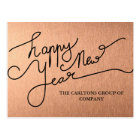 Modern Mauve Happy New Year Typography Corporate Postcard