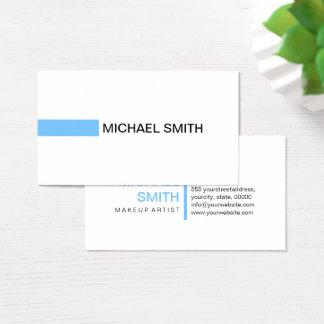 Modern Maya Blue Elegant Professional Plain White Business Card