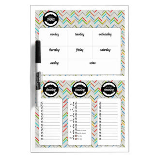 Modern Menu and Cleaning Schedule Dry Erase Board
