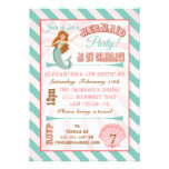 Modern Mermaid Birthday Party Invitation