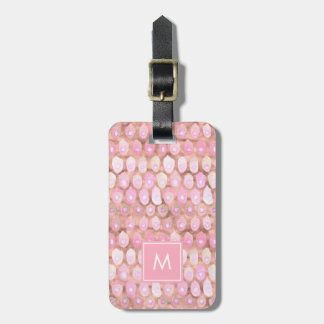Modern Mermaid   Glam Pink with Monogram Luggage Tag