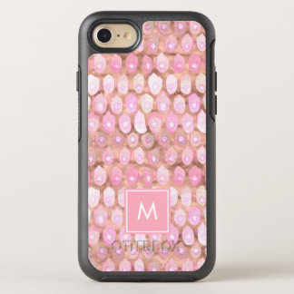 Modern Mermaid | Glam Pink with Monogram OtterBox Symmetry iPhone 8/7 Case
