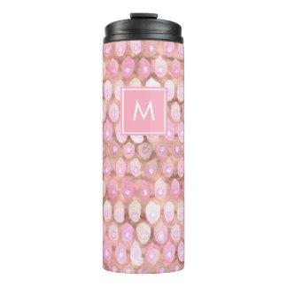Modern Mermaid | Glam Pink with Monogram Thermal Tumbler