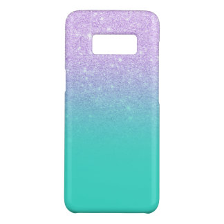 Modern mermaid lavender glitter turquoise ombre Case-Mate samsung galaxy s8 case