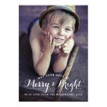Modern Merry & Bright Holiday Two Photo Card 13 Cm X 18 Cm Invitation Card