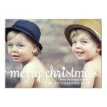 Modern Merry Christmas Big Photo Card 13 Cm X 18 Cm Invitation Card