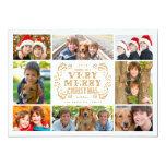 Modern Merry Christmas Collage Holidays Photo Card 13 Cm X 18 Cm Invitation Card